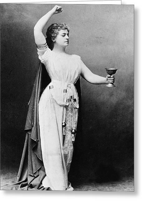 Lilli Lehmann (1848-1929) Greeting Card by Granger