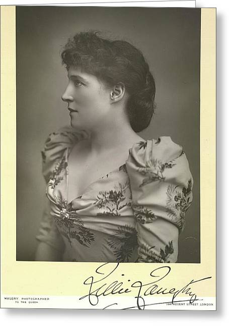 Lillie Langtry Greeting Card by British Library