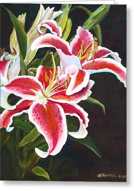 Lilli's Stargazers Greeting Card by Harriett Masterson