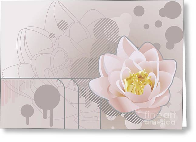 lilly background Illustration Greeting Card by Christos Georghiou