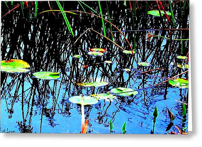 Lilly Pads - Abstract Greeting Card