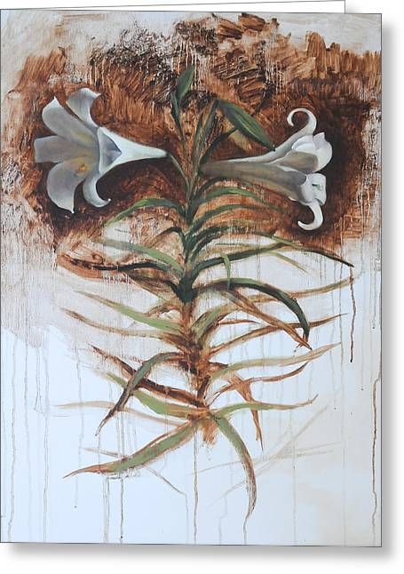 Lily Greeting Card by Alla Parsons