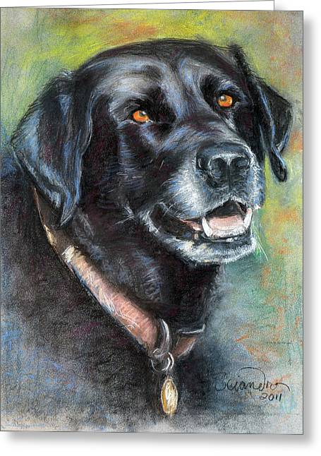 Lily- Black Labrador Retriever Greeting Card