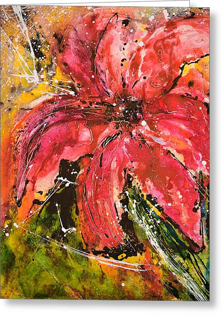 Lily - Flower Painting Greeting Card