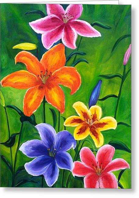 Lily Garden Greeting Card