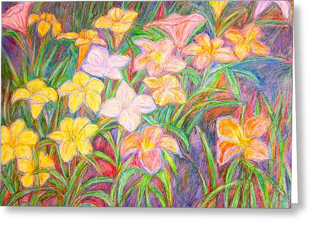 Lily Glow Greeting Card by Kendall Kessler