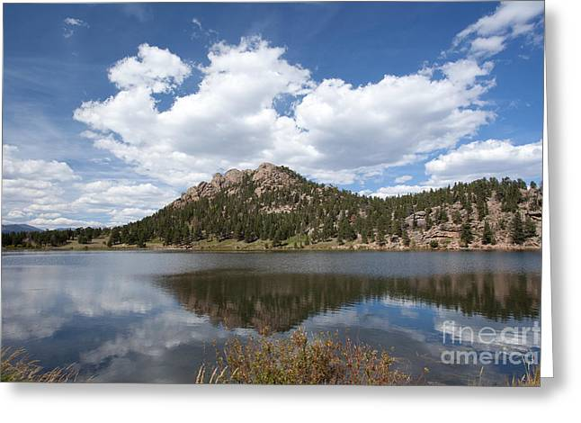 Lily Lake Relection Greeting Card