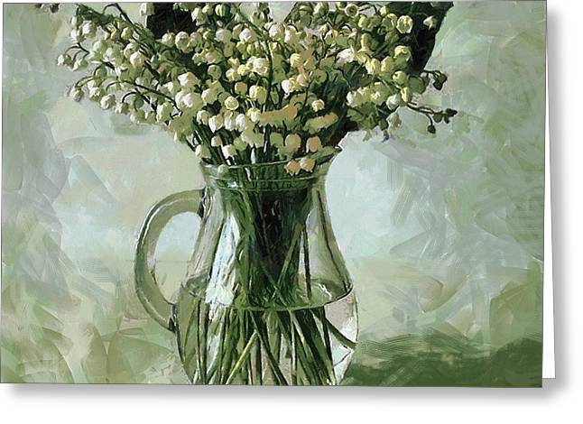 Lily Of The Valley Greeting Card by Vasiliy Agapov