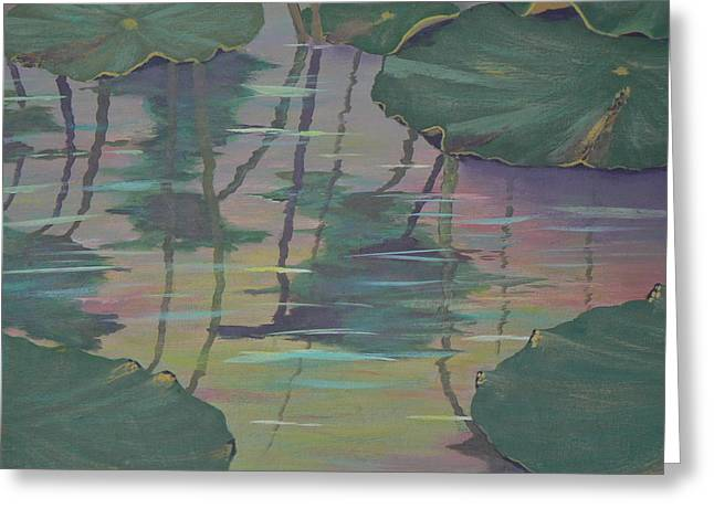 Lily Pad Reflections Greeting Card