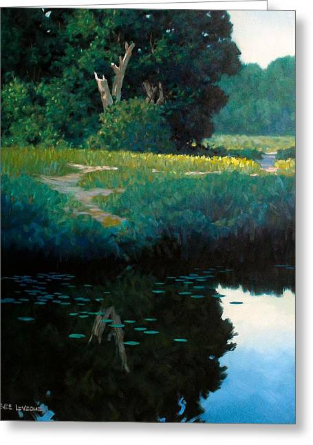 Lily Pads Greeting Card by Kevin Lawrence Leveque
