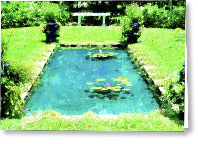 Lily Pond Garden Greeting Card