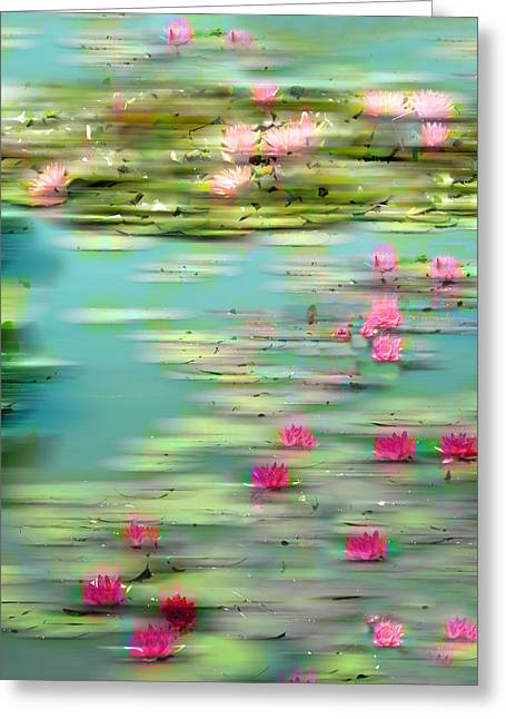 Lily Pond Impressions Greeting Card by Jessica Jenney