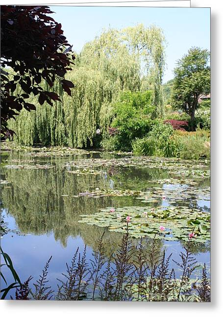 Lily Pond - Monets Garden - France Greeting Card by Christiane Schulze Art And Photography