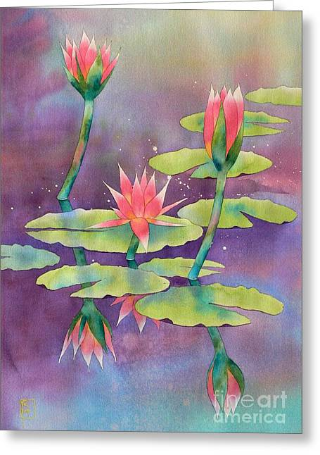 Lily Pond Greeting Card by Robert Hooper