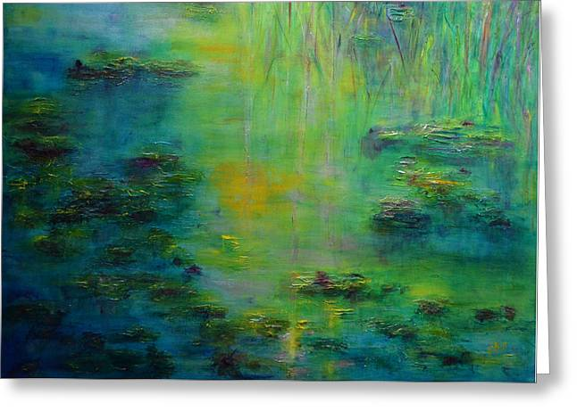 Lily Pond Tribute To Monet Greeting Card