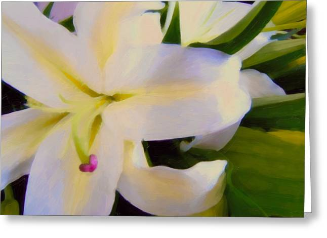 Lily Portrait Greeting Card