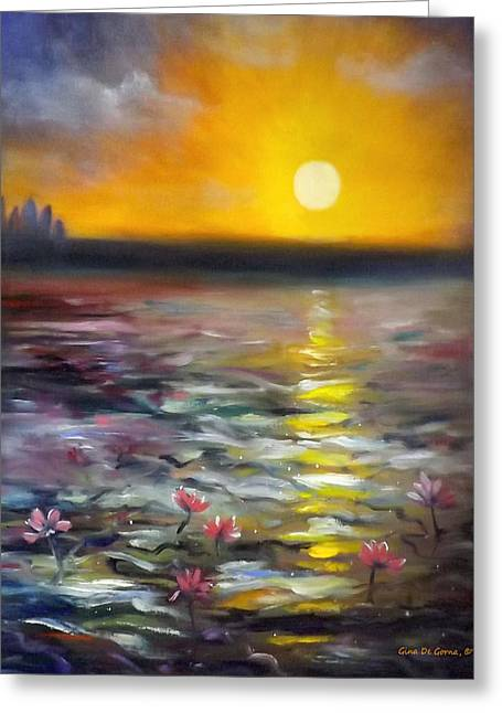 Lily Sunset 3 Greeting Card
