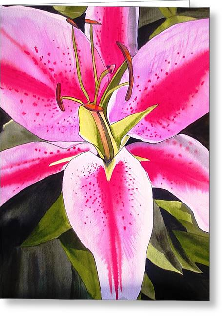 Lily Tenerife Greeting Card by Sacha Grossel