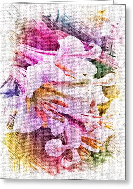 Lily Ventures Greeting Card by Dennis Buckman