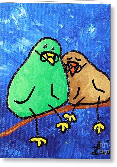 Limb Birds - Lasting Love Greeting Card by Linda Eversole