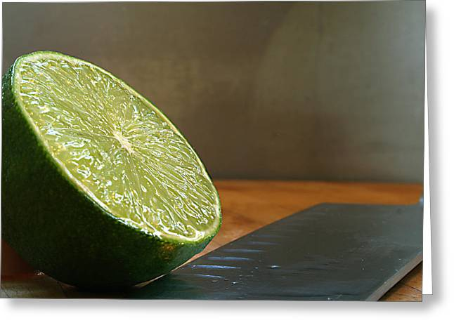 Greeting Card featuring the photograph Lime Blade by Joe Schofield
