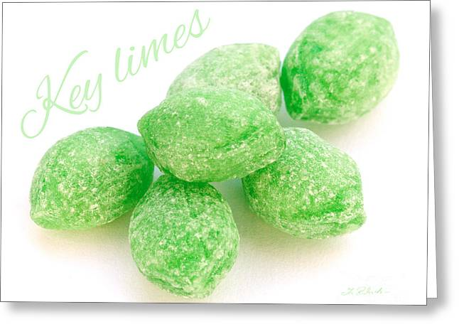 Lime Candy Greeting Card by Iris Richardson
