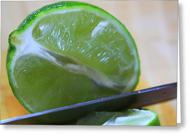 Lime Greeting Card by Dan Sproul