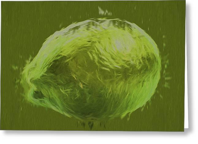 Lime Food Digital Painting Greeting Card by David Haskett