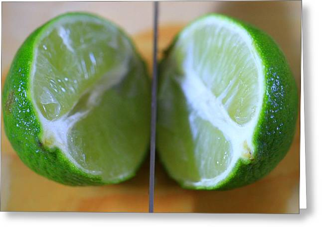 Lime Halves Greeting Card by Dan Sproul