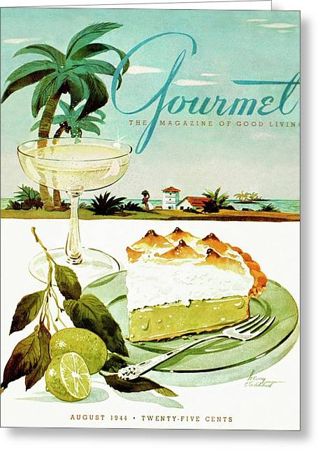 Lime Meringue Pie With Champagne Greeting Card by Henry Stahlhut