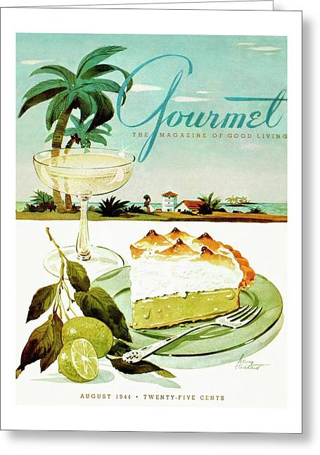 Lime Meringue Pie With Champagne Greeting Card