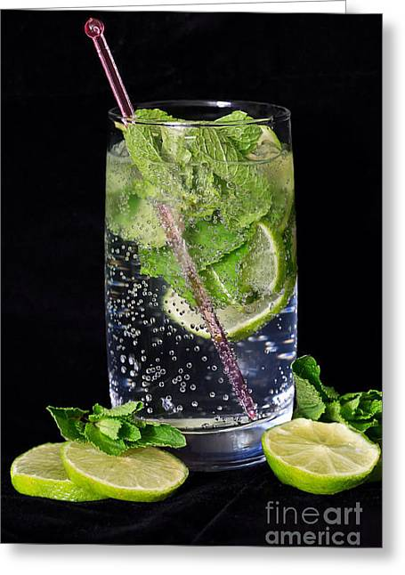 Lime Soda Greeting Card by Tracy  Hall
