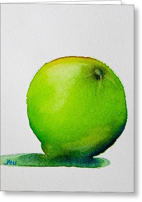 Lime Study Greeting Card by Jani Freimann
