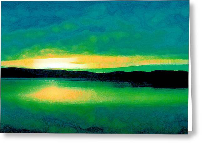 Lime Sunset Greeting Card
