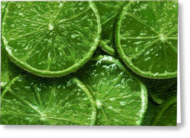 Limes Greeting Card by David Blank