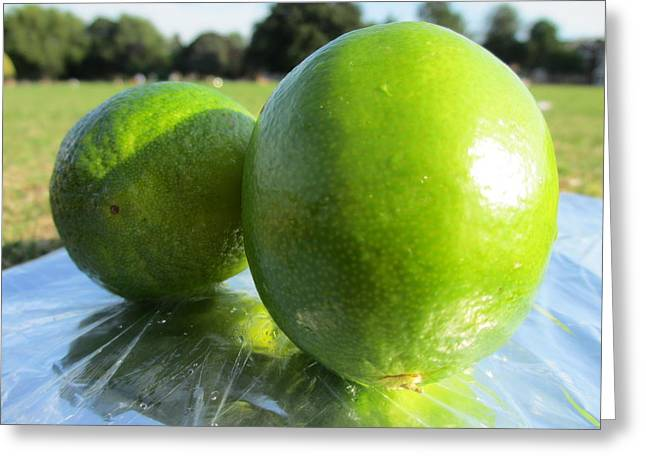 Limesize Greeting Card by Steven Hart