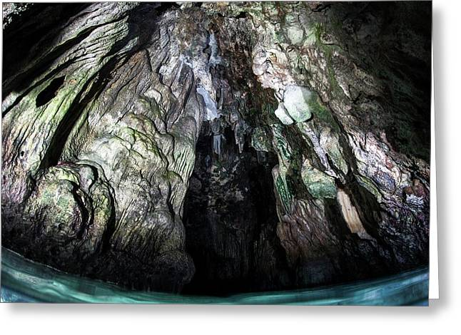 Limeston Cave Greeting Card by Ethan Daniels