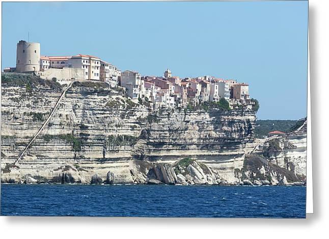 Limestone Cliffs Of Bonifacio Greeting Card by Dr Juerg Alean