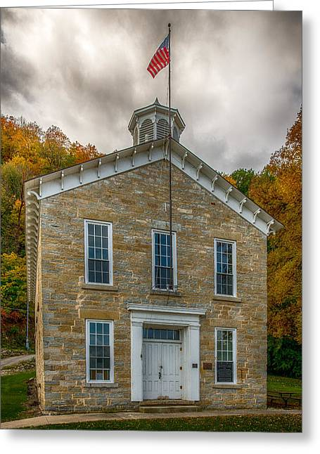 Limestone School House Greeting Card by Paul Freidlund