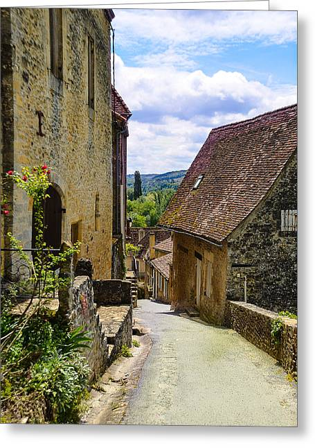 Greeting Card featuring the photograph Limeuil En Perigord - France by Dany Lison