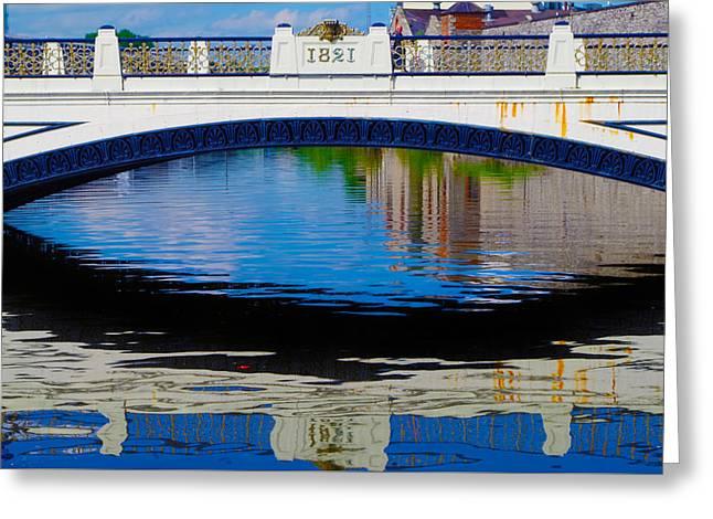 Sean Heuston Dublin Bridge Greeting Card