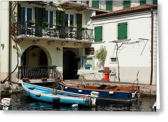 Limone Del Garda, Lago Di Garda Greeting Card by Sergio Pitamitz