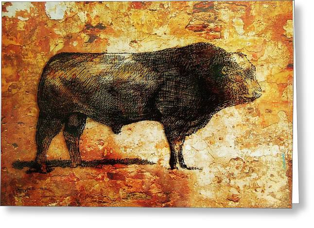 French Limousine Bull 10 Greeting Card by Larry Campbell