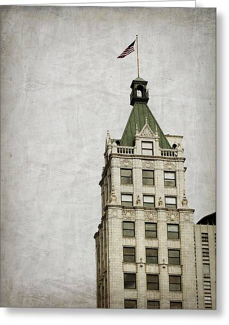Lincoln American Tower Greeting Card by Suzanne Barber