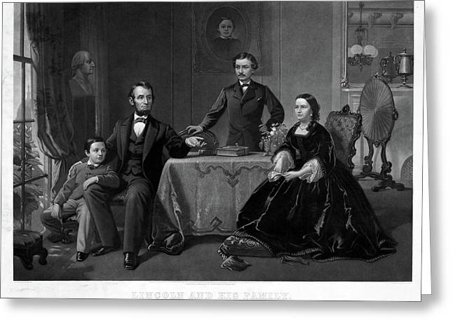 Lincoln And Family Greeting Card by Granger