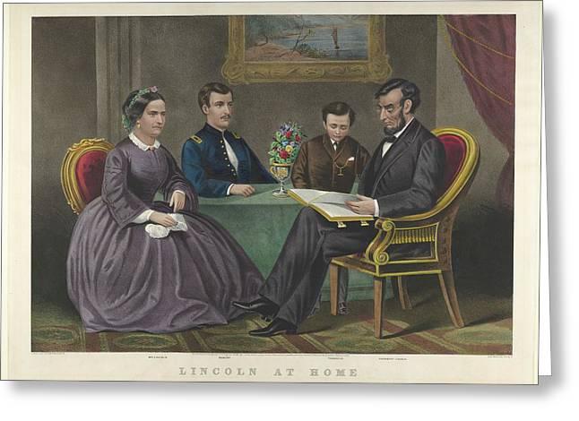 Lincoln At Home Greeting Card