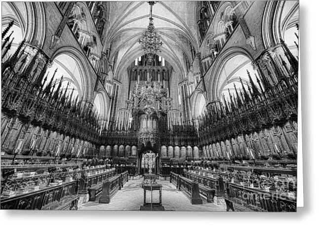 Lincoln Cathedral The Choir II Greeting Card