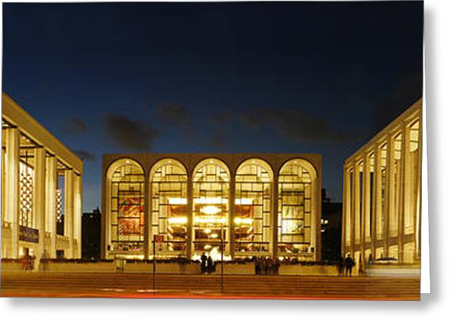 Greeting Card featuring the photograph Lincoln Center At Night by Yue Wang