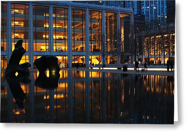 Lincoln Center Gold Greeting Card