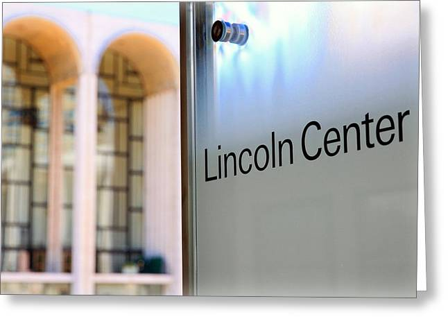 Lincoln Center Greeting Card by Valentino Visentini
